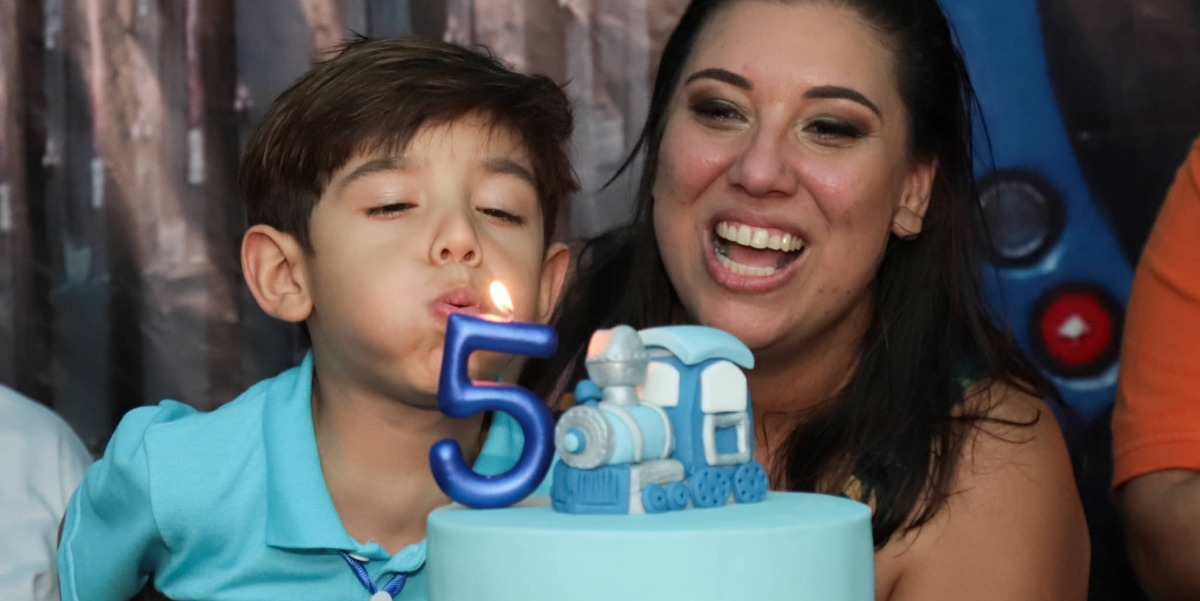 Dimitri faz cinco anos e tem festa com tema SuperVia