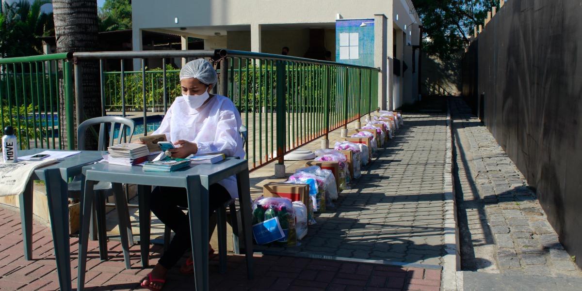 SuperVia e Unicef - Posto de distribuição na Palmerinha