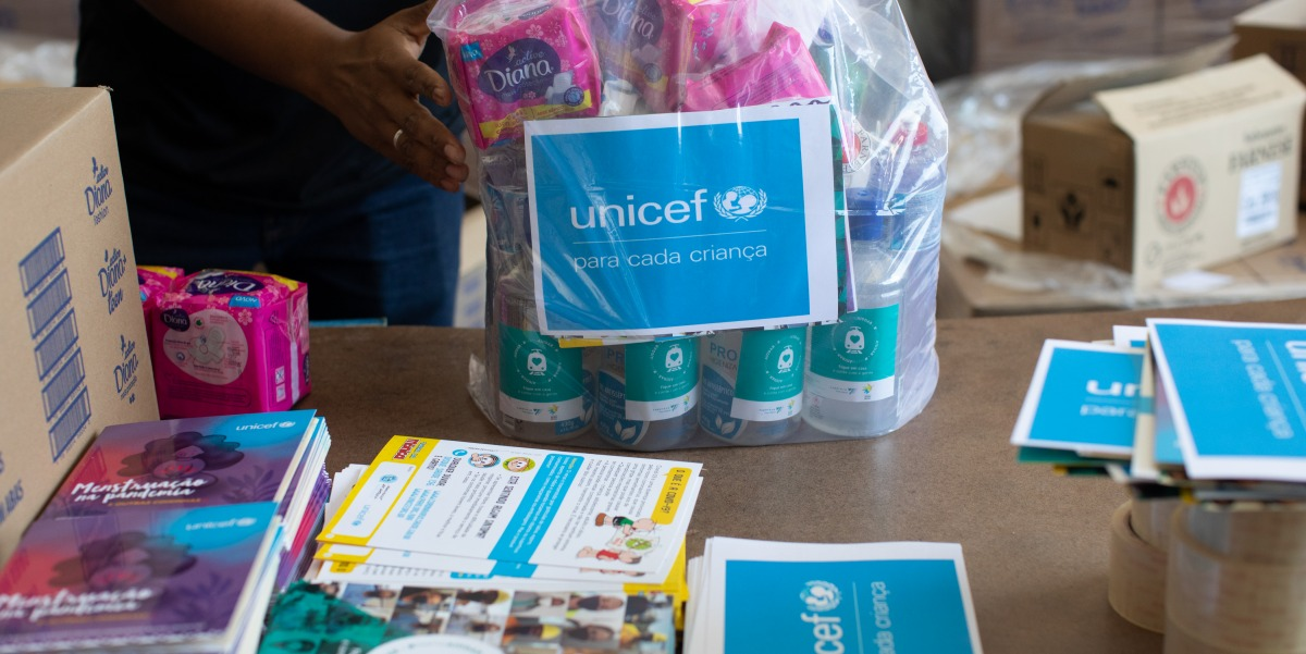 SuperVia e Unicef - kits de higiene pessoal e limpeza